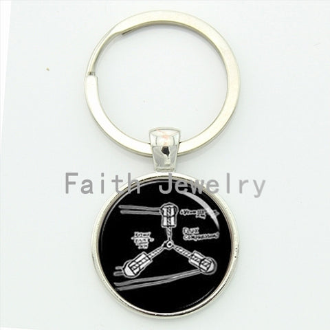 2016 newest creative jewelry Flux Compression Back to the future key chain Flux capacitor Physicals keychain idea gifts 80's - Animetee - 3