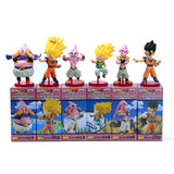 6pcs Dragon ball Z Kai Action Figure Son Gokou Gohan Goten Buu Ubu Budokai PVC Model Japanese Anime Figure Dragonball Z Kai Toy - Animetee - 4