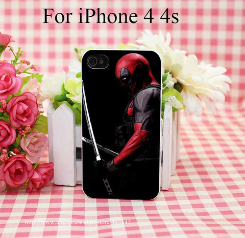 Movie Deadpool Hard White Cover Case for iPhone 4 4s 5 5s 5c 6 6s Protect Phone Cases - Animetee - 4