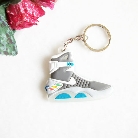 Back To The Future II Glow In The Dark Air Mag Key Chain, Sneaker Keychain Key Chain Key Ring Key Holder for Woman and Girl Gift 80's - Animetee - 1