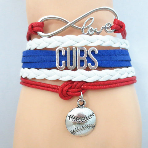 Custom Made Infinite Love Chicago CUBS baseball team colors Bracelet - Animetee - 7