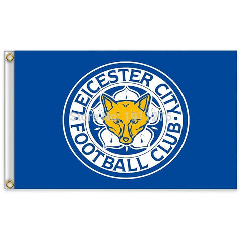 90x150cm England Leicester City Football Club decoration Flag A 3ft*5ft Office/Activity/parade/Festival/Home Decoration - Animetee