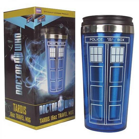 High Quality Doctor Dr. Who Tardis Coffee Cup Stainless Steel Interior Thermos Mug Thermomug Thermocup 450ml - Animetee