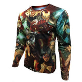 2016 Marvel Avengers Captain America 2 winter soldier deadpool Costume 3d Superhero T shirt Men Long sleeves Sport tshirt homme - Animetee - 3