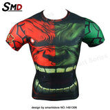 Marvel Comic Marvel's Deadpool Dead pool Compression T-Shirt Excercise Fit Tight Gym Civil War Costume - Animetee - 13