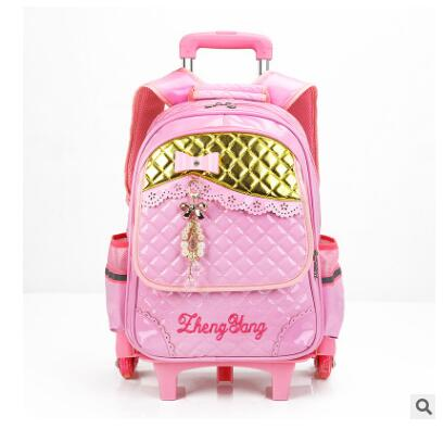 School Backpack school bag with wheels for girl s kid's luggage Rolling  Bags wheeled Backpacks for Girls School Trolley backpack bag for girls  AT_48_3
