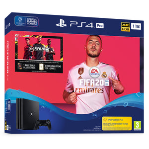 Sony PlayStation 4 Pro (1TB) FIFA 20 Bundle + Black Dualshock Controller