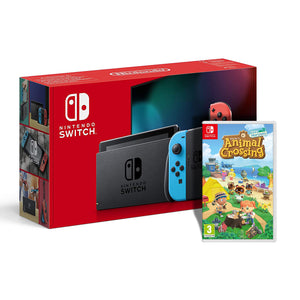Nintendo Switch Console Neon + Animal Crossing