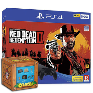 Sony PlayStation 4 (500GB) + Red Dead Redemption 2 + Crash Bandicoot Loot Crate