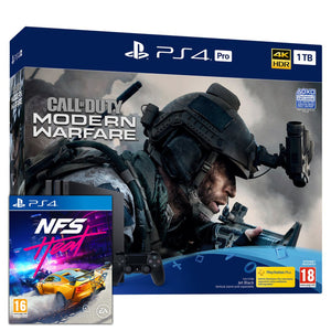 Sony PlayStation 4 Pro (1TB) Call of Duty: Modern Warfare Bundle + Need for Speed: Heat