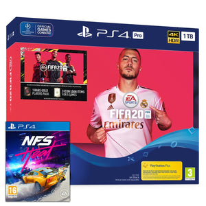 Sony PlayStation 4 Pro (1TB) FIFA 20 Bundle + Need For Speed: Heat