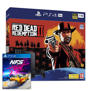 Sony PlayStation 4 Pro (1TB) + Red Dead Redemption 2 + Need for Speed: Heat
