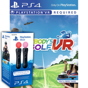 Everybody's Golf VR & PlayStation Move Controller Twin Pack - PSVR
