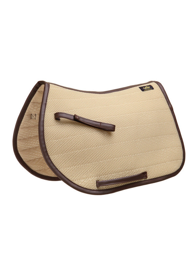 Cal Rei JUMPING SADDLE PAD Topax, Beige with Brown Contrast / Full, Galleria Morusso - 9