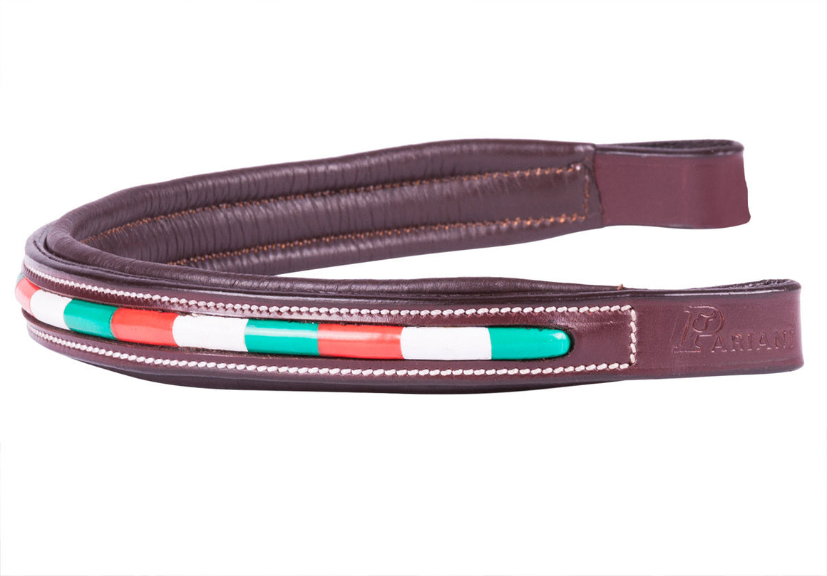 Pariani ITALIAN / MEXICAN / CALIFORNIA Flag Browband, Cob / Nut, Galleria Morusso - 1