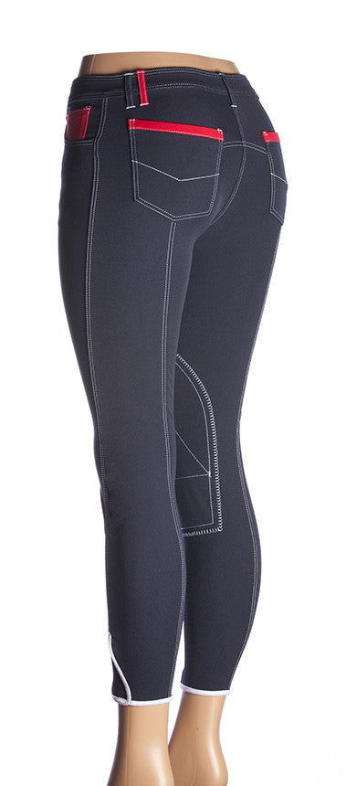 Sarm Hippique LOTO Breeches Clearance, 38 / Navy/Red, Galleria Morusso - 1