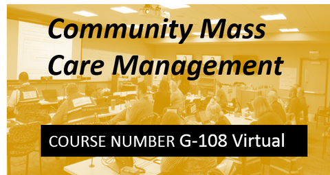 G 108: Community Mass Care Management - VIRTUAL