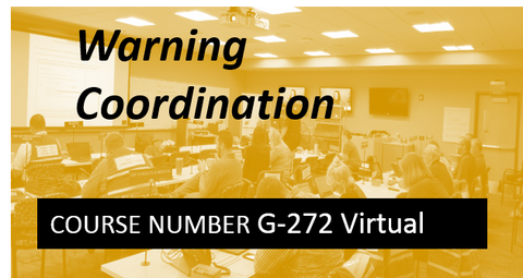 G 272: Warning Coordination - VIRTUAL