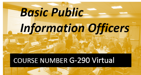 G 290: Basic Public Information Officers - VIRTUAL