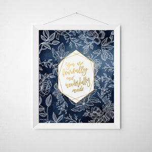 Navy Blue Nursery Wall Art for Girls