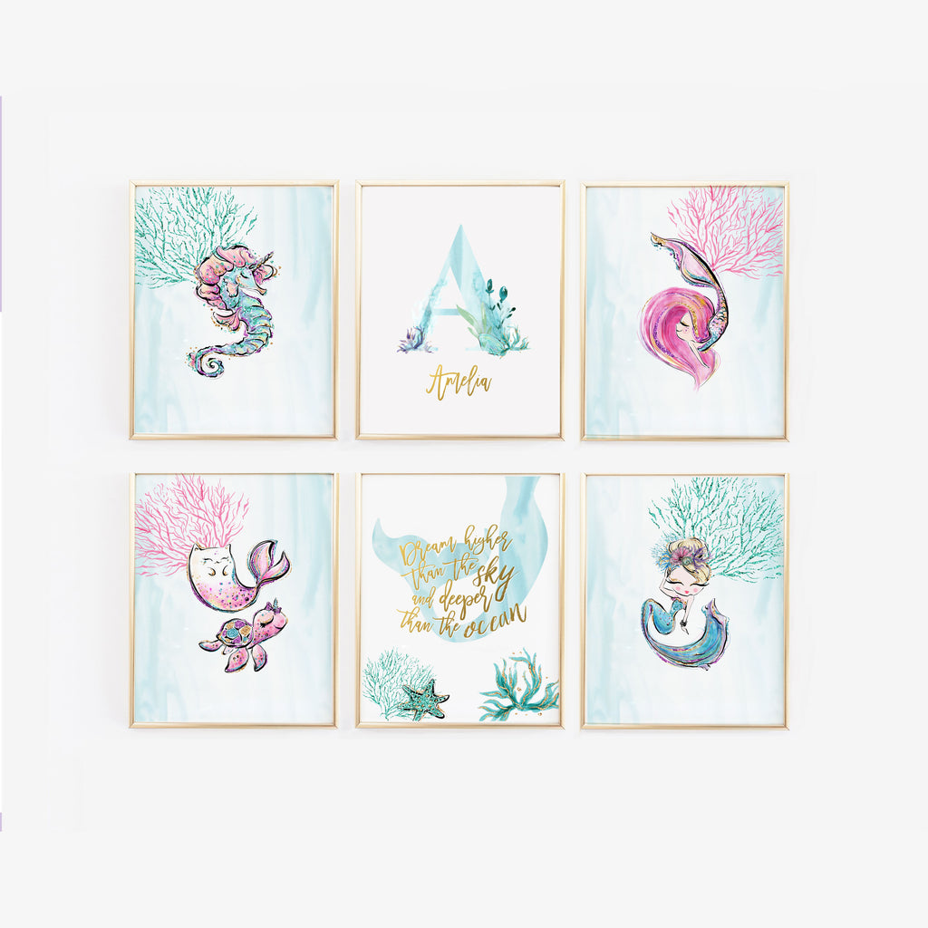 Decorate Your Little One's Nursery With Mermaid Wall Art