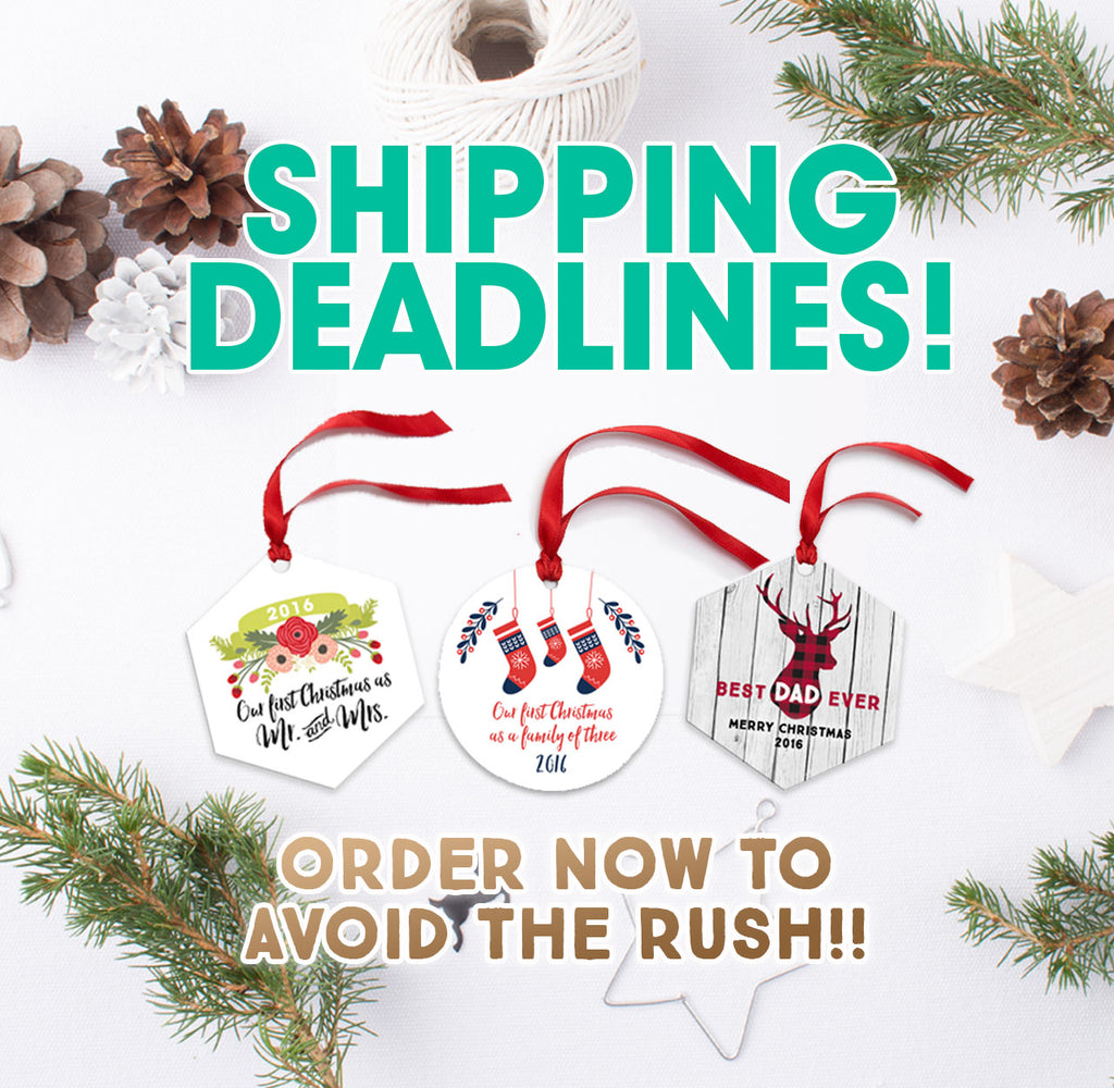 Holiday Shipping Deadlines for 2018