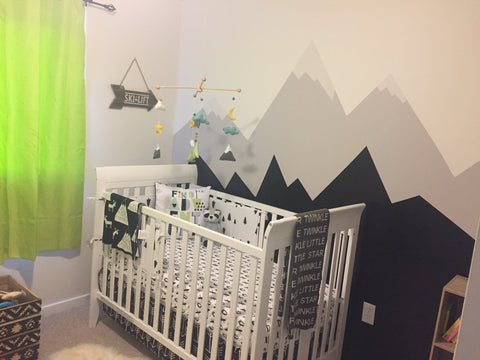 Boy nursery mountains