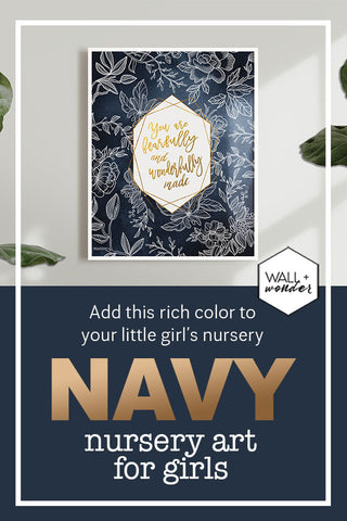 navy wall art