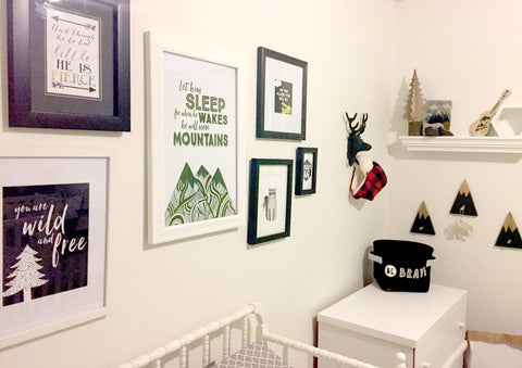 Mountains boy nursery