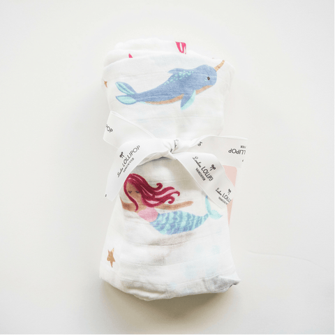 mermaid swaddle blanket