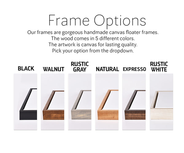 rustic frame choices