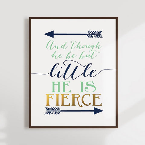 and though he is fierce boy nursery decor ideas