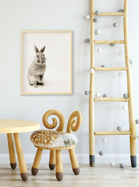 Bunny Rabbit Print for Farmhouse Modern Baby Room - Wall art - Wall Prints