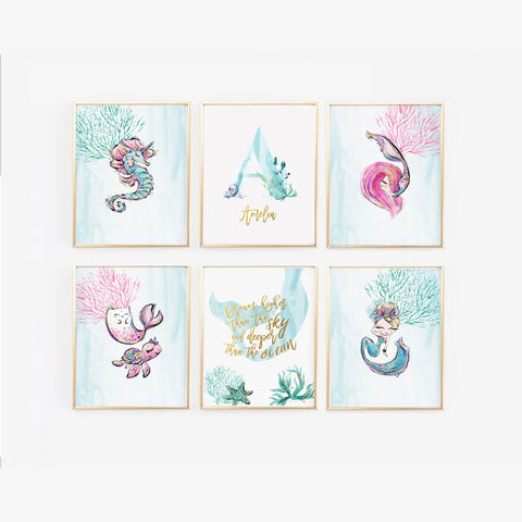 Mermaid nursery art