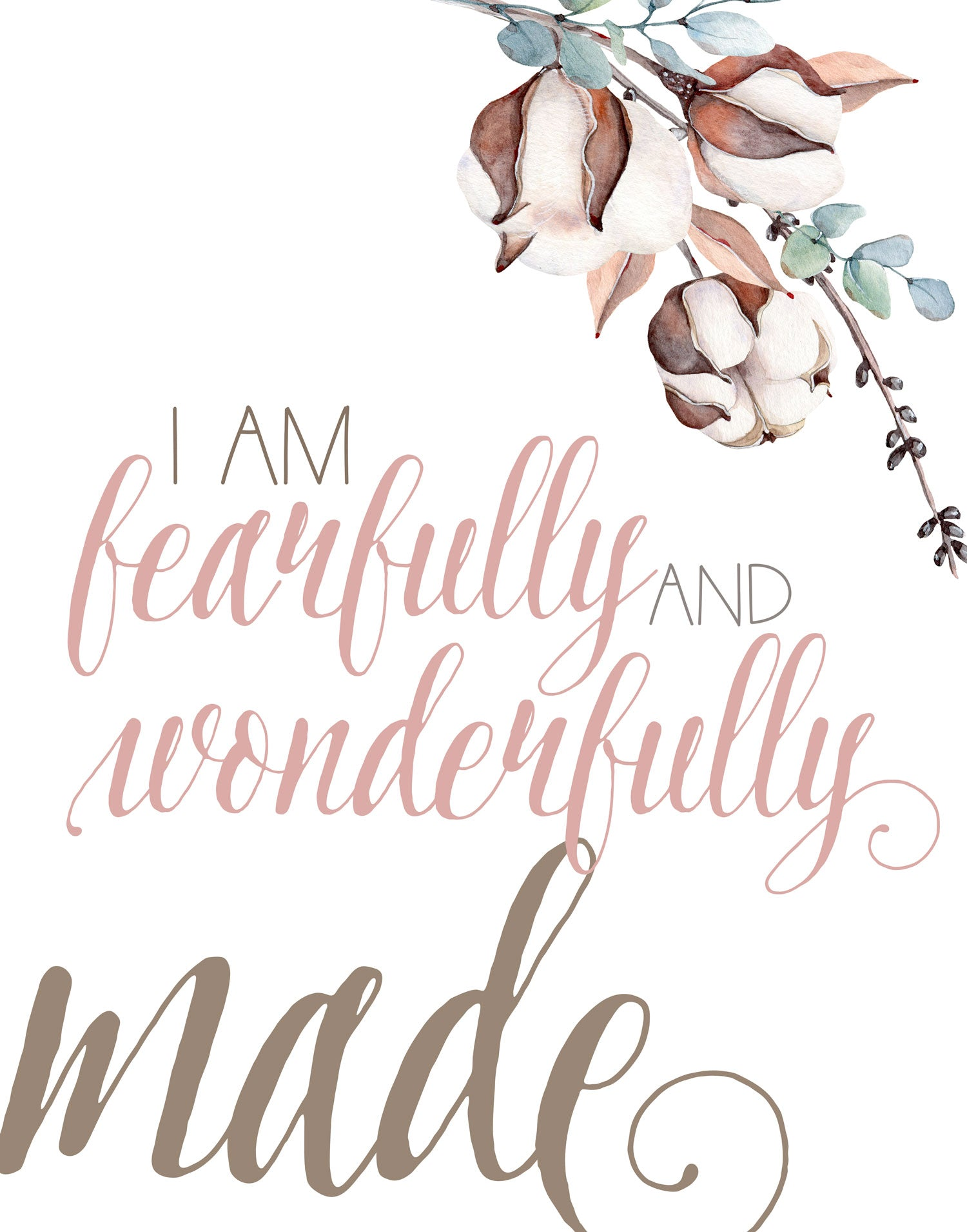 Fearfully And Wonderfully Made I Am A Child Of God Set Of Three Fl Wall And Wonder