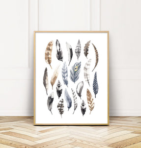 feather nursery print