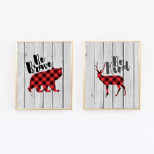 Load image into Gallery viewer, Buffalo Plaid Lumberjack Prints - Set of 2 - Wall Prints