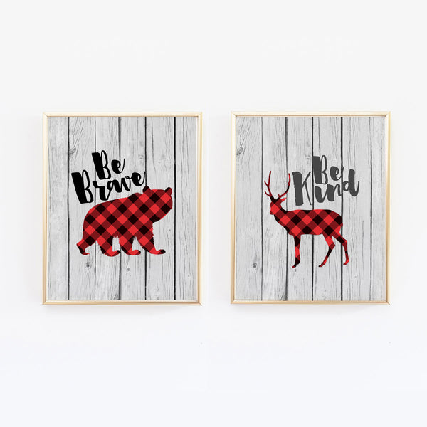Buffalo Plaid Lumberjack Prints - Set of 2 - Wall Prints