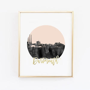 Dartmouth Skyline Wall Print