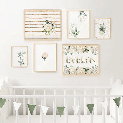 Floral Nursery Gallery Wall Set