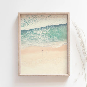 Beach Waves Wall Art Poster