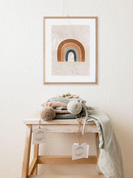 Neutral Rainbow Nursery Wall Art