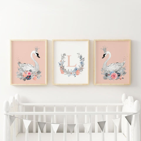 swan nursery decor