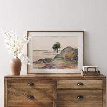 Load image into Gallery viewer, Watercolor with Tree Landscape Wall Art