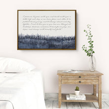 Load image into Gallery viewer, Wedding Vows Framed Personalized Canvas Art with forest