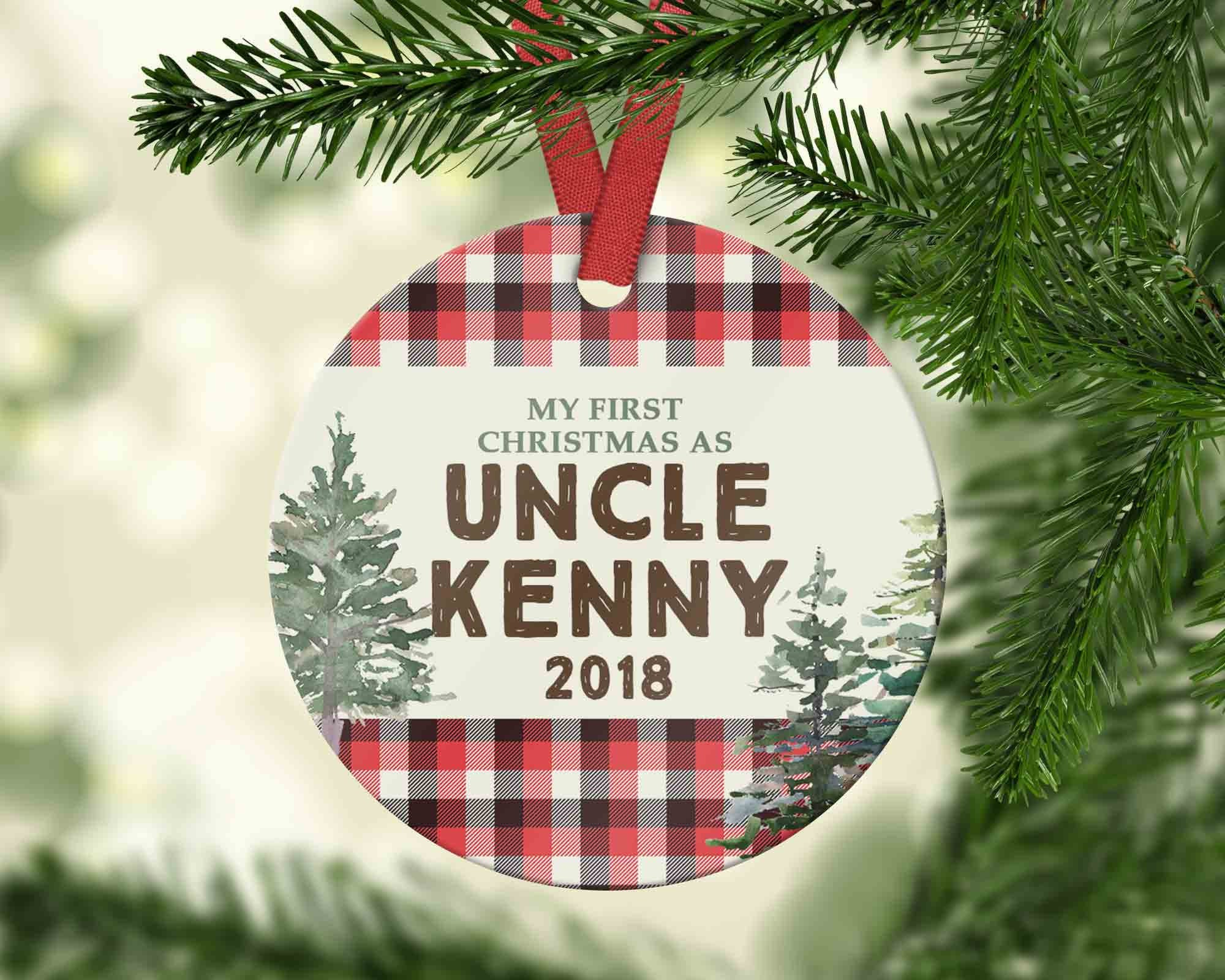 Uncle Gift Christmas Ornament - Pregnancy Announcement Reveal - Ornament