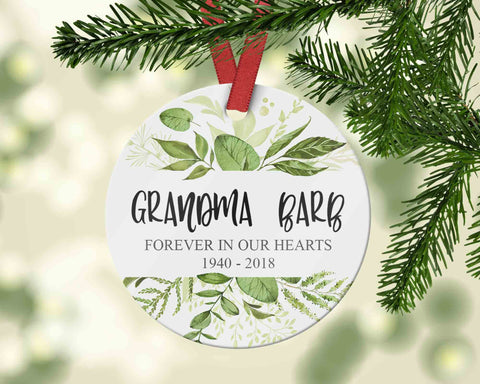 Personalized Memory Ornament - In Memory of Grandma or someone special - Sympathy Bereavement - Ornament