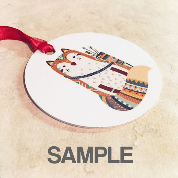 Personalized First Christmas Together Ornament with ugly sweaters - Ornament