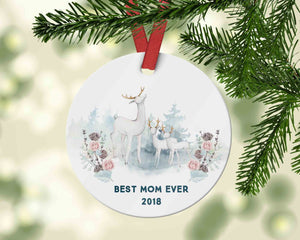 Best Mom Ever Ornament 2018, Gift from Kids to Mom - 2018 Ornament for Mother - Ornament