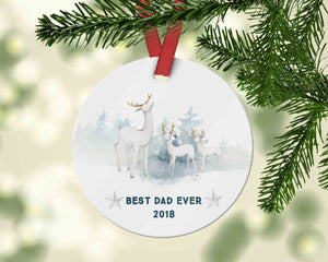 Best Dad Ever Ornament 2018, Gift from Kids to Dad, 2018 Ornament for Father - Ornament
